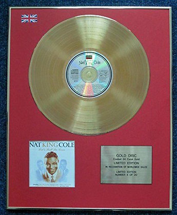 Nat King Cole - CD 24 Carat Gold Coated LP Disc - Let's Fall In Love