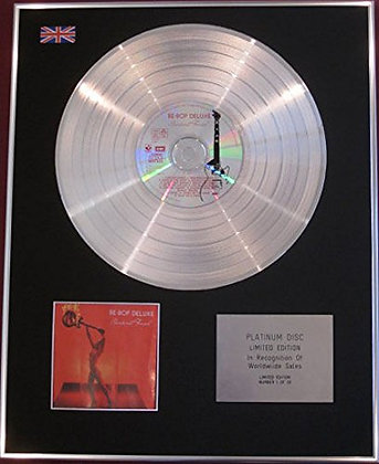 BE-BOP DELUXE - CD Platinum Disc - SUNBURST FINISH