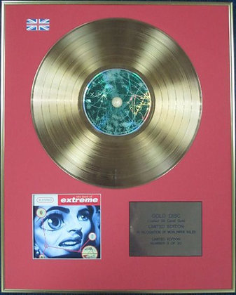 EXTREME - Ltd Edition CD 24 Carat Coated Gold Disc - GREATEST HITS