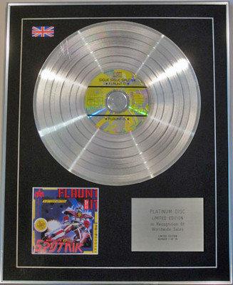 SIGUE SIGUE SPUTNIK - Limited Edition CD Platinum Disc - FLAUNT IT