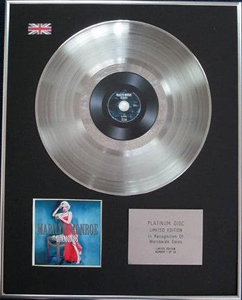 MARILYN MONROE - Limited Edition CD Platinum Disc - DIAMONDS