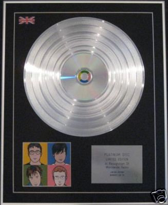 BLUR - Ltd Edition CD Platinum Disc - THE BEST OF