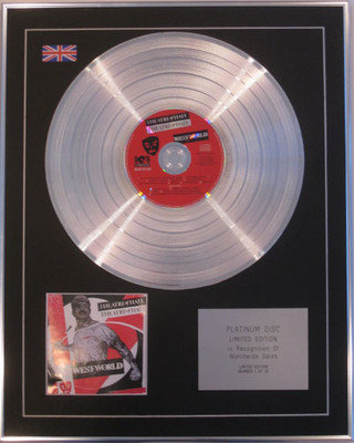 THEATRE OF HATE - Limited Edition CD Platinum Disc - WEST WORLD