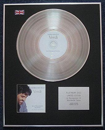 Andrea Bocellii - Limited Edition CD Platinum LP Disc - Verdi