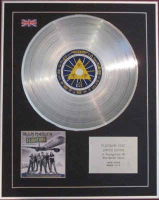 IRON MAIDEN - CD Platinum Disc - FLIGHT 666