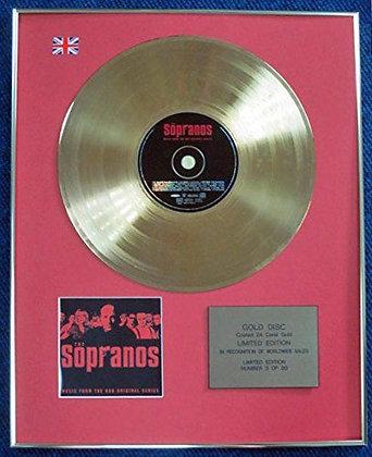 Sopranos - LTD Edition CD 24 Carat Gold Coated LP Disc - Original Soundtrack