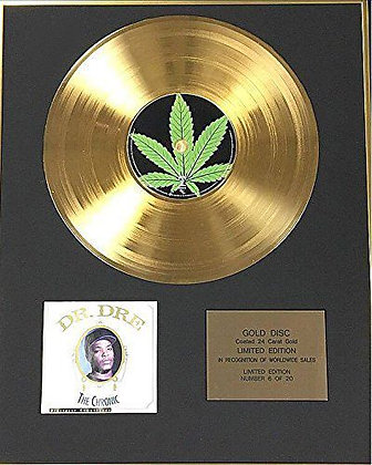 Dr Dre - Exclusive Limited Edition 24 Carat Gold Disc - The Chronic