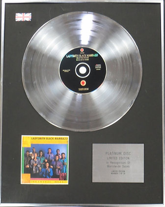LADYSMITH BLACK MAMBAZO - Limited Edition CD Platinum Disc