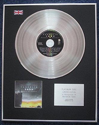 Vangelis - Limited Edition CD Platinum LP Disc - 1492: Conquest of Paradise