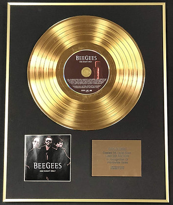 Bee Gees - Exclusive Limited Edition 24 Carat Gold Disc - One Night Only