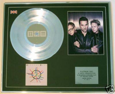DEPECHE MODE-CD Platinum Disc+Photo-SOUNDS OF UNIVERSE