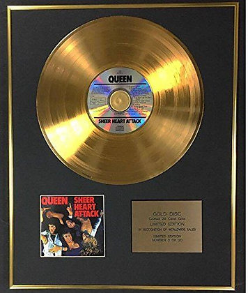 Queen - Exclusive Limited Edition 24 Carat Gold Disc - Sheer Heart Attack