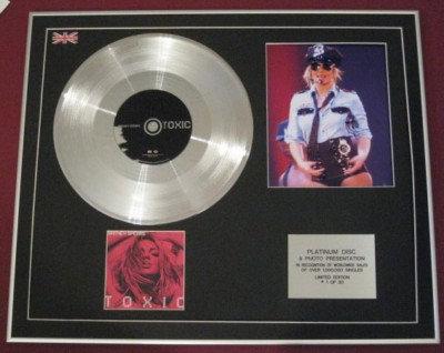 BRITNEY SPEARS -Platinum Disc CD single+ Photo -TOXIC