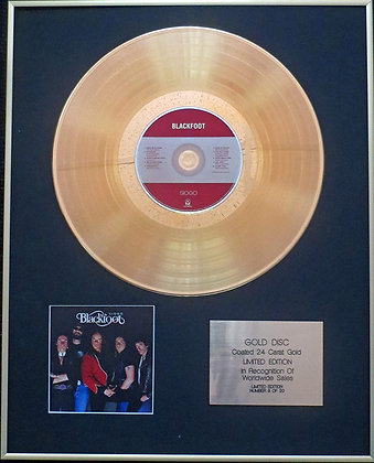 Blackfoot - Exclusive Limited Edition 24 Carat Gold Disc - Siogo