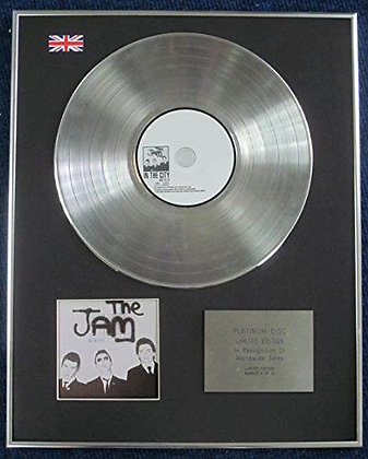 Jam - Limited Edition CD Platinum LP Disc - In the City