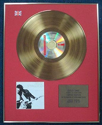 Bruce Springsteen - LTD Edition CD 24 Carat Gold Coated LP Disc - Born to Run