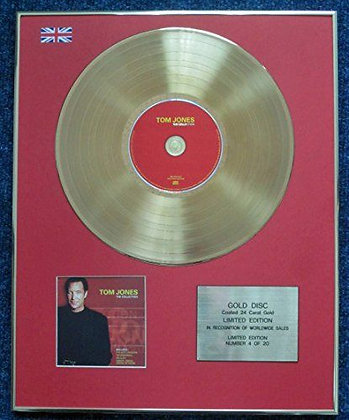 Tom Jones - Limited Edition CD 24 Carat Gold Coated LP Disc - Collection