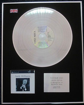 ANDY WILLIAMS - Limited Edition CD Platinum LP Disc - THE BEST OF