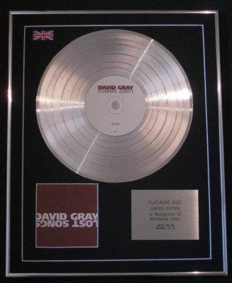 DAVID GRAY -Ltd Edtn CD Platinum Disc - LOST SONGS