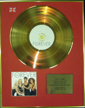 THE SPICE GIRLS - Ltd Edition CD 24 Carat Coated Gold Disc - FOREVER