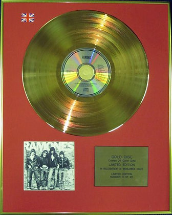 "RAMONES - Ltd Edition CD 24 Carat Coated Gold Disc -"" RAMONES """