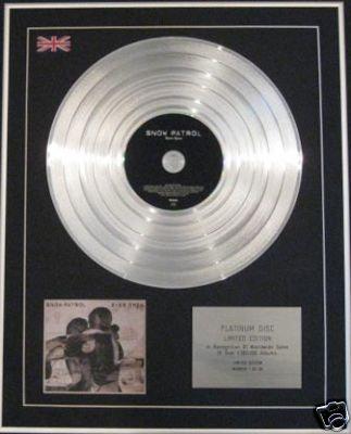 SNOW PATROL - Ltd Edtn CD Platinum Disc- EYES OPEN