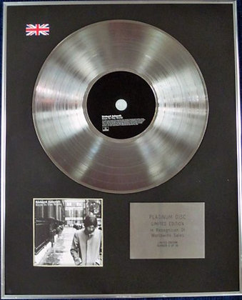 RICHARD ASHCROFT - Limited Edition CD Platinum Disc - KEYS TO THE WORLD
