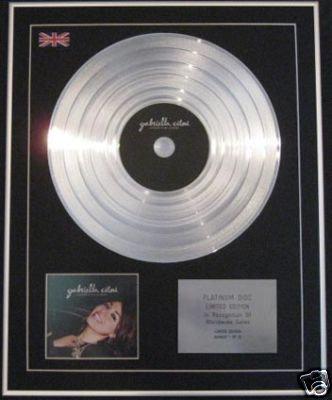 GABRIELLA CILMI-CD Platinum Disc-LESSONS TO BE LEARNED