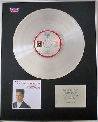 NIGEL KENNEDY - Ltd CD Platinum Disc - THE FOUR SEASONS