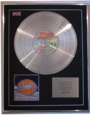 AMERICA  -Ltd Edtn CD Platinum Disc- DEFINITIVE AMERICA