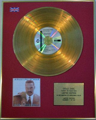 ALEXANDER O'NEAL - Limited Edition 24 Carat CD Gold Disc - ALL TRUE MAN