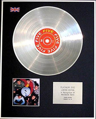 FIVE - Limited Edition CD Platinum Disc - FIVE