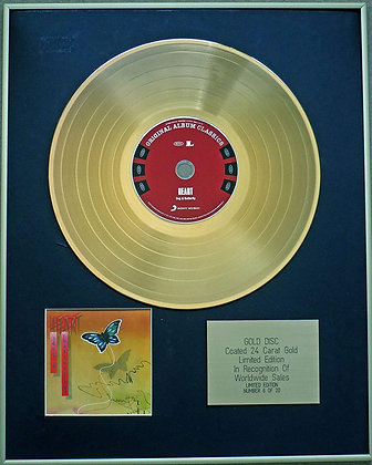 HEART - Exclusive Limited Edition 24 Carat Gold Disc - DOG AND BUTTERFLY