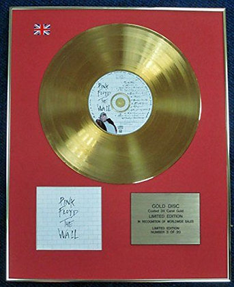 Pink Floyd - Limited Edition CD 24 Carat Gold Coated LP Disc - The Wall