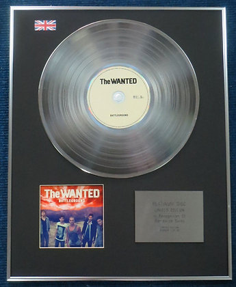 The Wanted - Limited Edition CD Platinum LP Disc - Battleground