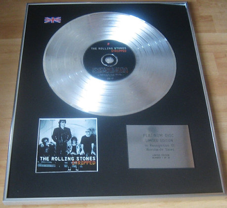 ROLLING STONES - CD Platinum Disc - STRIPPED