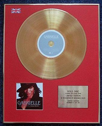 Gabrielle - CD 24 Carat Gold Coated LP Disc - Dreams Can Come True