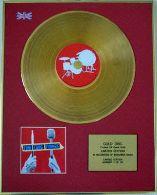THE TING TINGS - Limited Edition 24 Carat CD Gold Disc - WE STARTED NOTHING