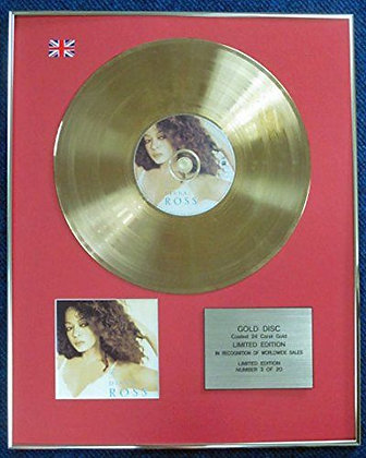 Diana Ross - Limited Edition CD 24 Carat Gold Coated LP Disc - Ross