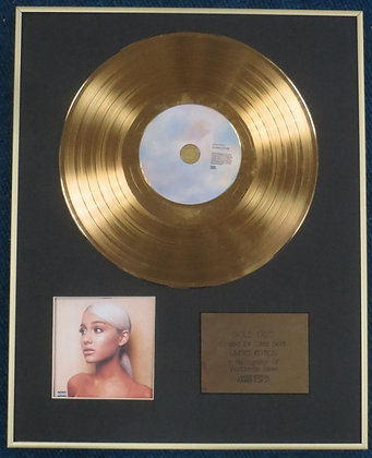 ARIANA GRANDE- Limited Edition CD 24 Carat Gold Coated LP Disc - SWEETENER
