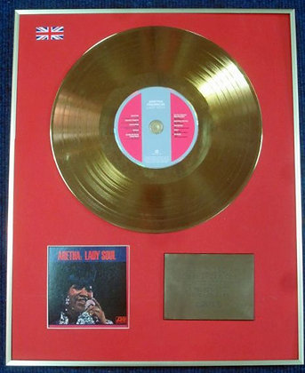 ARETHA FRANKLIN - Limited Edition CD 24 Carat Gold Coated LP Disc - LADY SOUL
