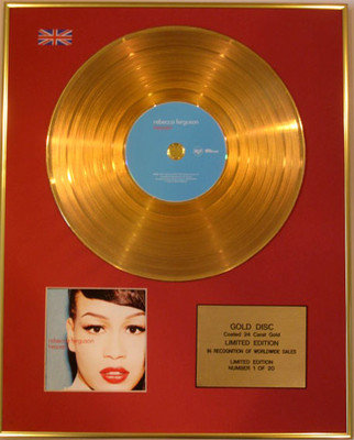 REBECCA FERGUSON - Limited Edition 24 Carat CD Gold Disc - HEAVEN