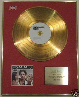 SUGABABES - Ltd Edtn 24 Carat CD Gold Disc - THREE