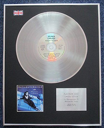 Belinda Carlisle - Limited Edition CD Platinum LP Disc - Heaven on Earth