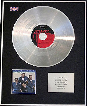 DRIFTERS - CD Platinum Disc -THE VERY BEST OF