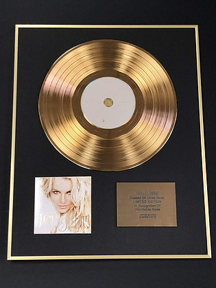 Britney Spears - Exclusive Limited Edition 24 Carat Gold Disc - Femme Fatie