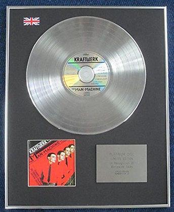 Kraftwerk - Limited Edition CD Platinum LP Disc - The Man-Machine