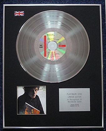Bob Dylan - Limited Edition CD Platinum LP Disc - Greatest Hits