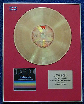 Eric Clapton - Limited Edition CD 24 Carat Gold Coated LP Disc - Backtrackin'
