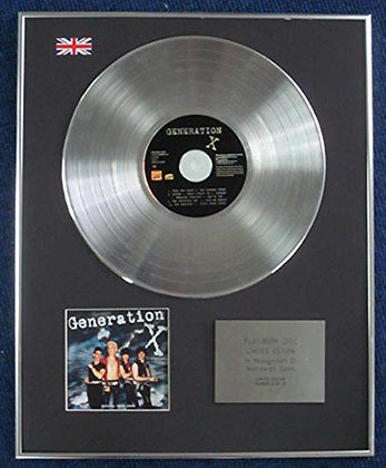 Generation X - Limited Edition CD Platinum LP Disc - 'Generation X'